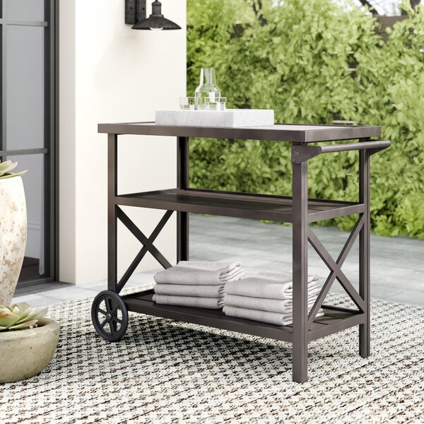 Noreen Bar Serving Cart By Greyleigh