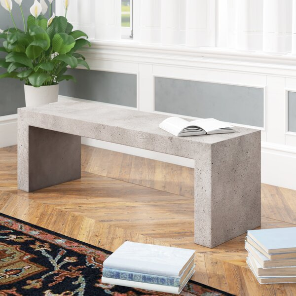 Yadira Fiberstone Bench by 17 Stories 17 Stories