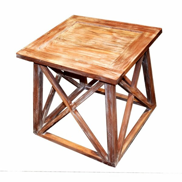 Worle Solid Wooden Side End Table by Millwood Pines