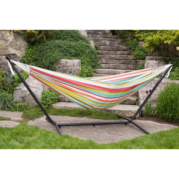 Double Polyester Hammock with Stand by Vivere Hammocks