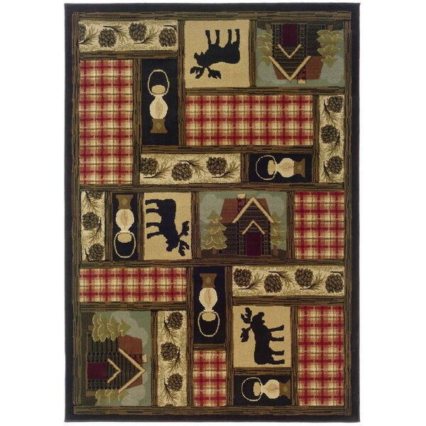 Johnson Village Brown/Red Area Rug by Loon Peak