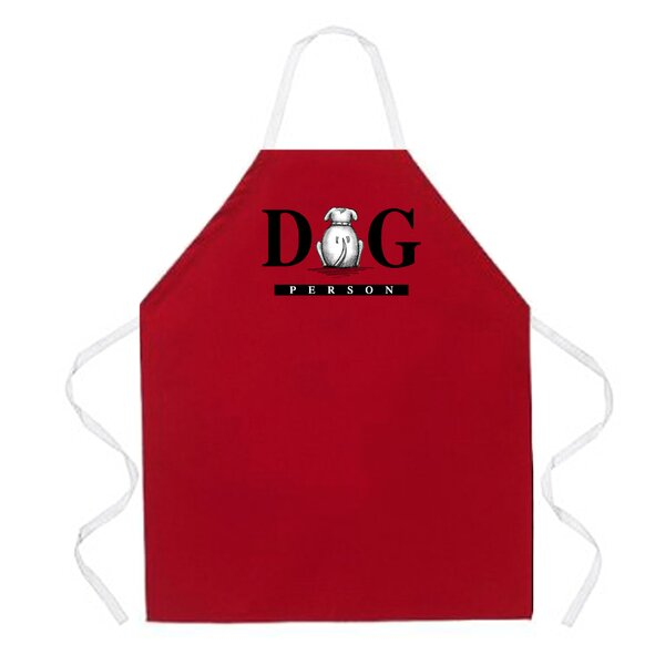 Dog Person Apron in Red by Attitude Aprons by L.A. Imprints