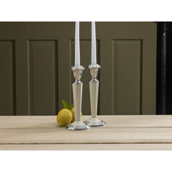 Countryside Candlestick Candle Holders (Set of 2) by Mikasa
