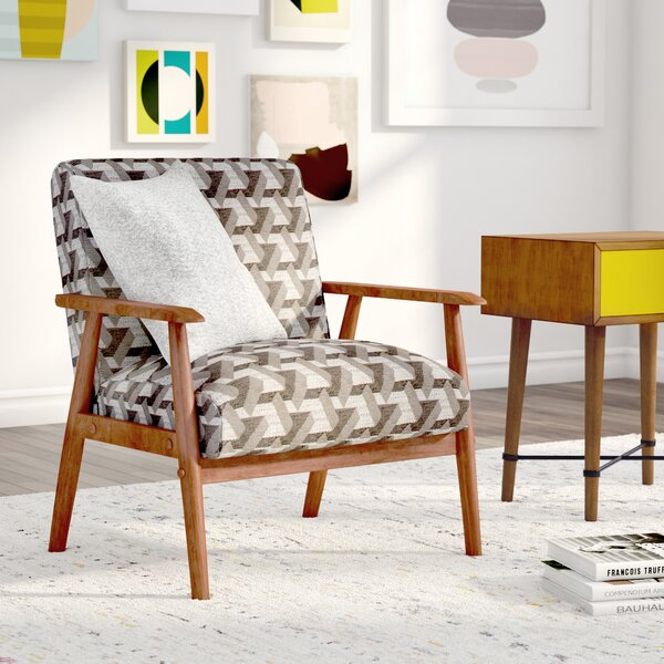 Izabella Wood Frame Armchair by Langley Street