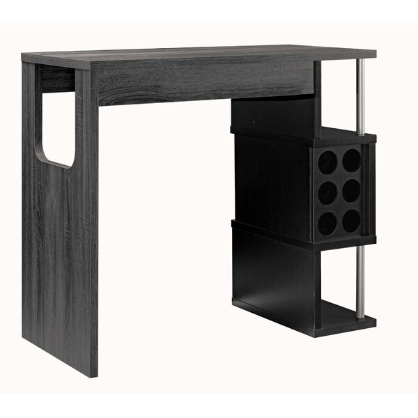 Rupesh Wooden Bar With Wine Storage By Wrought Studio™