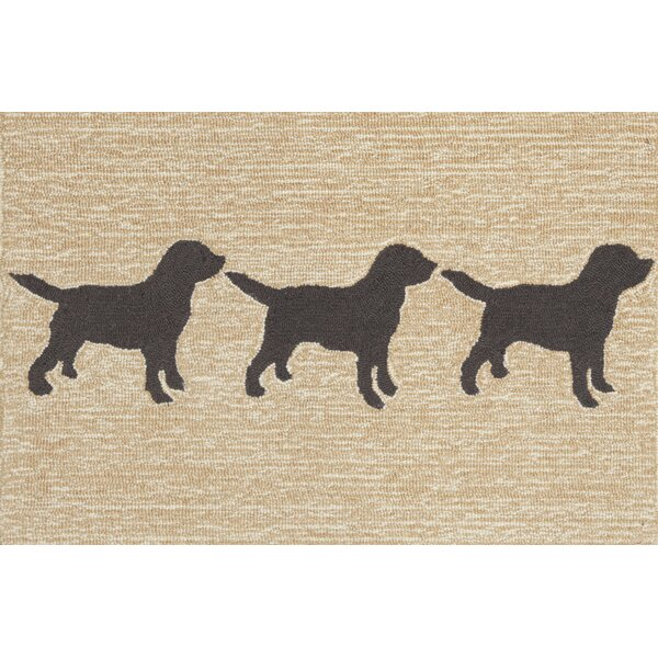 Nettles Doggies Natural Indoor/Outdoor Area Rug by Charlton Home