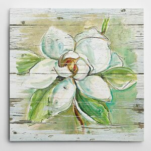 'Country Magnolia' by Carol Robinson Painting Print on Wrapped Canvas by Wexford Home