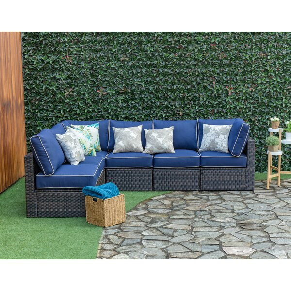 Southside Outdoor 6 Piece Sectional Seating Group with Cushions