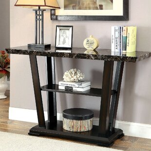 Greensboro Wooden Faux Marble Top Console Table By Ebern Designs