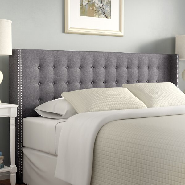 Wrigley King Upholstered Wingback Headboard by Darby Home Co