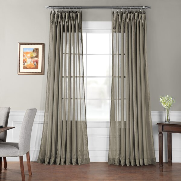 Double Layer Sheer Curtains Wayfair