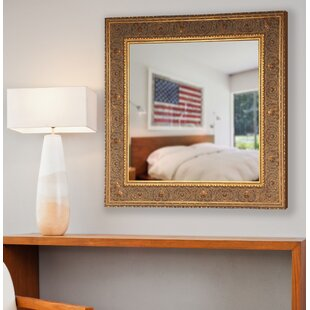 Savings Opulent Gold Square Wall Mirror By Astoria Grand