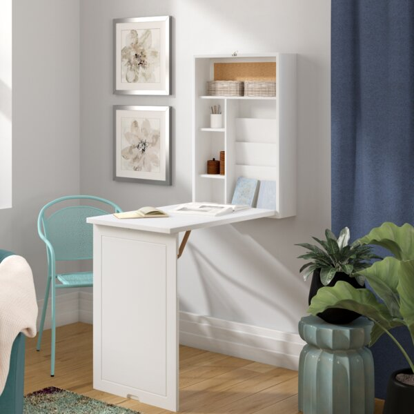 Turrella Wall-Mounted Floating Desk by Latitude Run