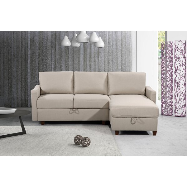 Zella Storage Reversible Sectional by Three Posts