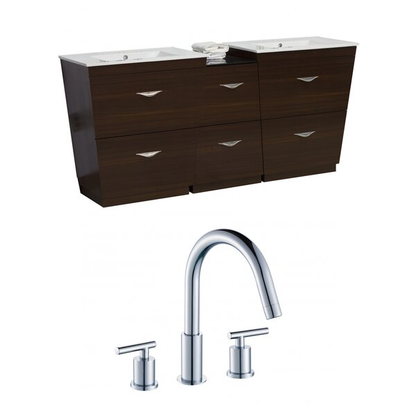 Kao Floor Mount 62 Double Bathroom Vanity Set by Royal Purple Bath Kitchen