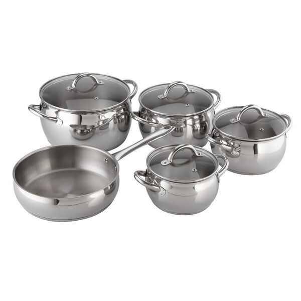 Kuchen Stainless Steel 9 Piece Cookware Set by Magefesa