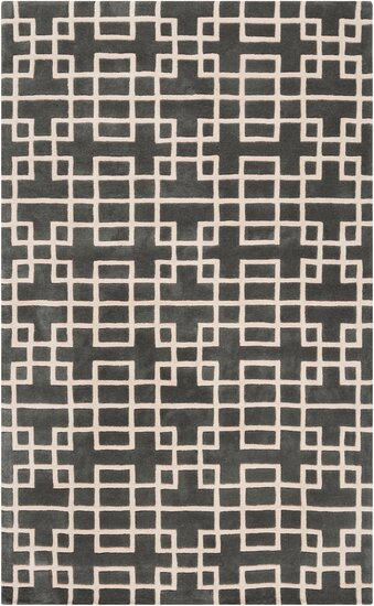 Jessenia Pewter Area Rug by Everly Quinn