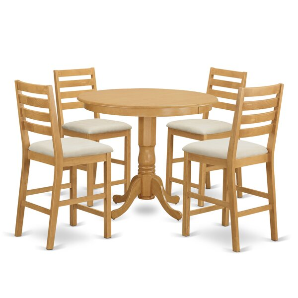 Trenton 5 Piece Dining Counter Height Pub Table Set by Wooden Importers