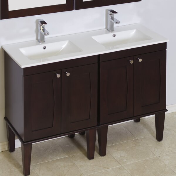 Rosehill Birch Wood Floor Mount 48 Double Bathroom Vanity Set by Winston Porter
