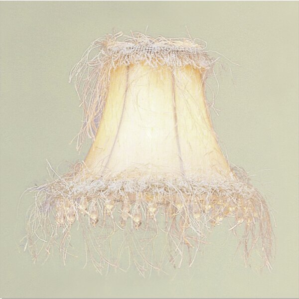 6 Silk Bell Beige Candelabra Shade by House of Hampton
