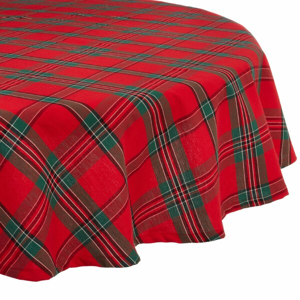 Leo Holiday Plaid Tablecloth by The Holiday Aisle