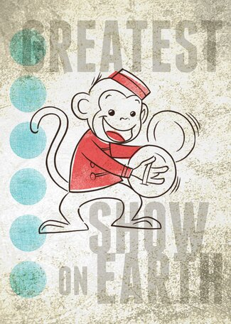 Big Top Monkey Canvas Art by Oopsy Daisy