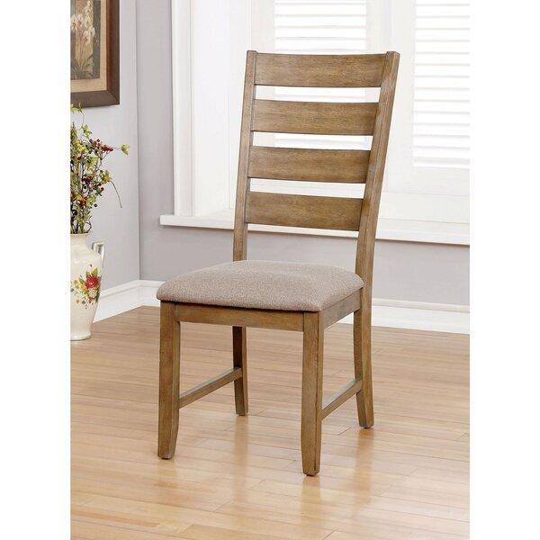 Habibah Ladder Back Side Chair in Beige by Gracie Oaks Gracie Oaks