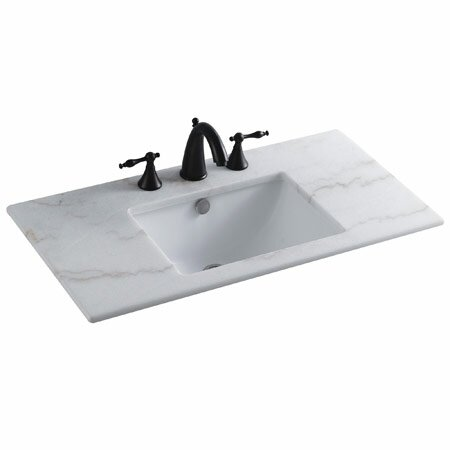 Forum Ceramic Rectangular Undermount Bathroom Sink with Overflow by Elements of Design