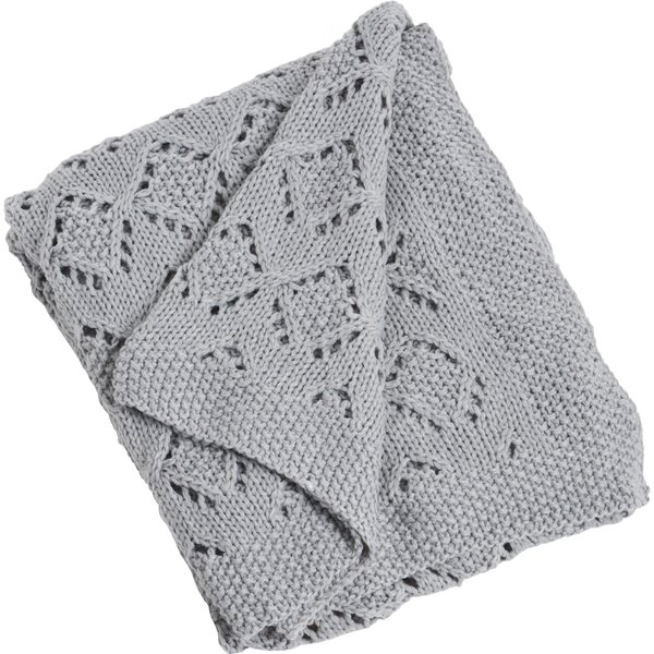 Knitted Design Throw by Saro
