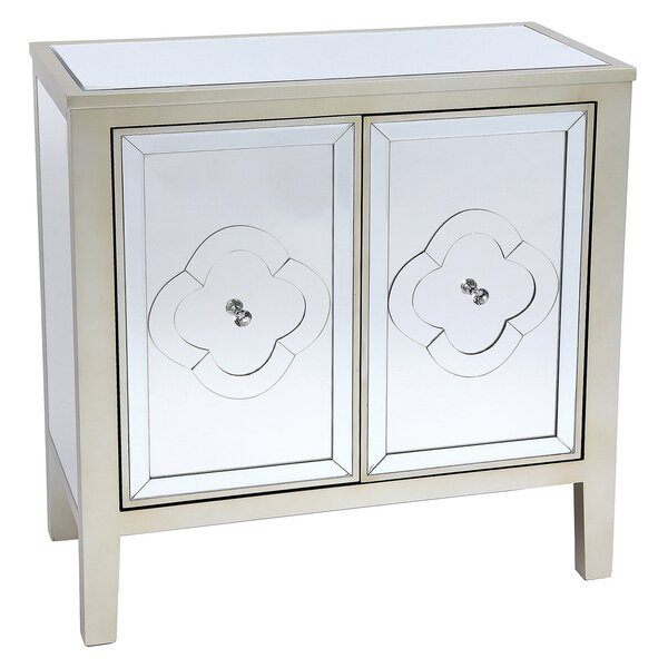Zayne Wood Mirror 2 Door Accent Cabinet by House of Hampton