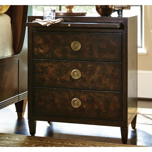 Humphrey Bogart Holmby Hills 3 Drawer Nightstand by Fine Furniture Design Fine Furniture Design
