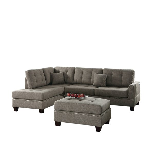 Nice Chic Thamann Reversible Modular Sectional by Red Barrel Studio by Red Barrel Studio
