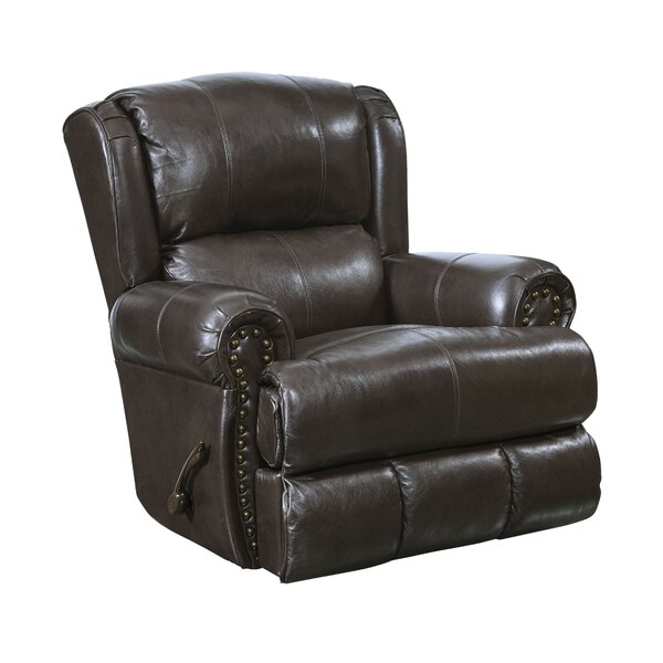 Woodville Deluxe Leather Manual Glider Recliner by Red Barrel Studio Red Barrel Studio