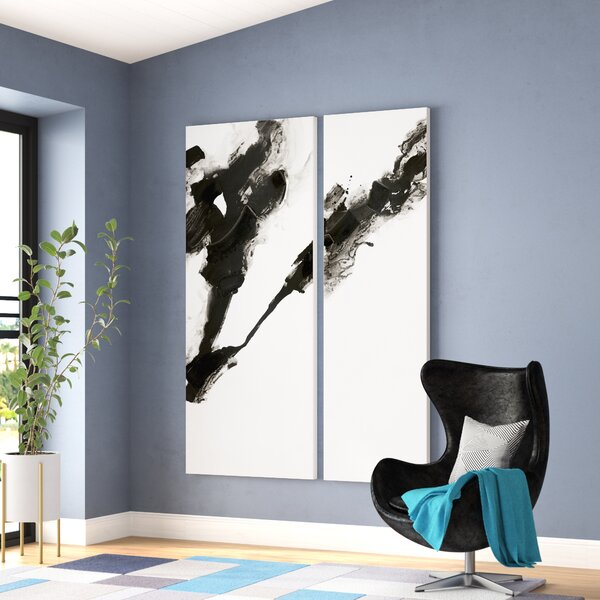 Rorschach Painting Print on Canvas (Set of 2) by Wade Logan