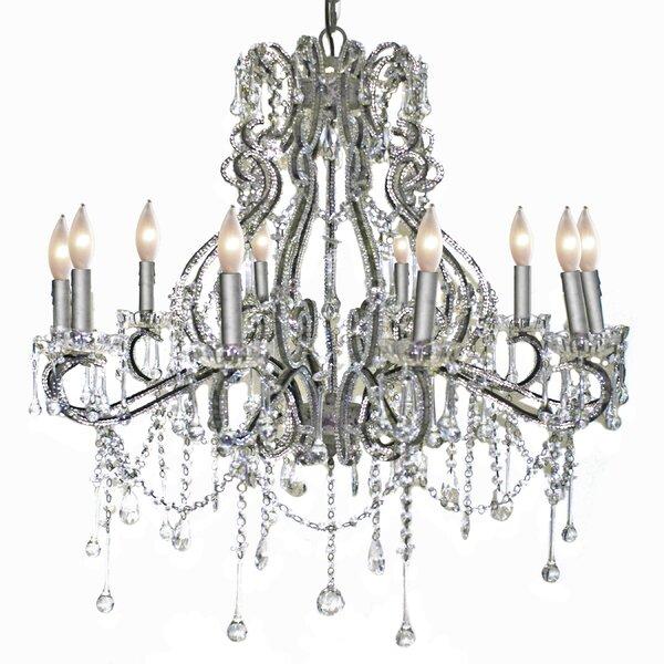 Isabela 10 - Light Candle Style Empire Chandelier by Rosdorf Park Rosdorf Park