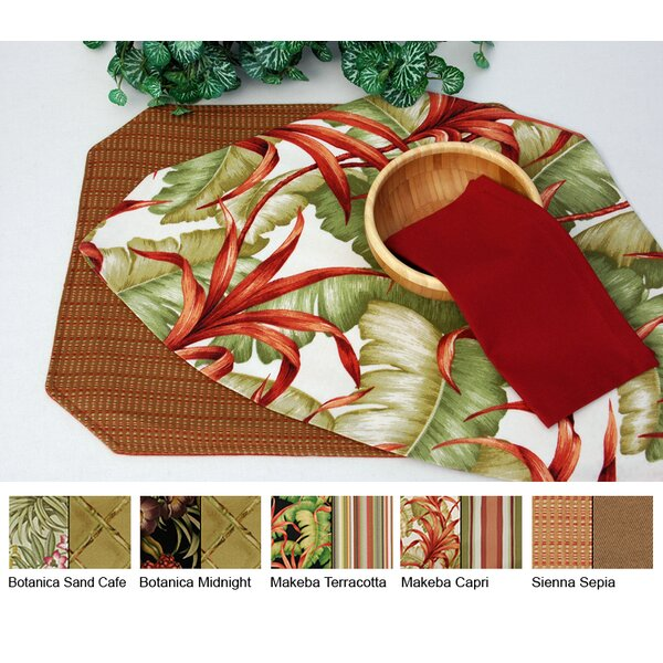 Outdoor Table Reversible Wedge Placemat (Set of 2) by Pacific Table Linens