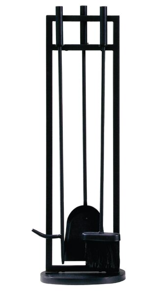 Classic 4 Piece Steel Fireplace Tool Set By Pleasant Hearth.