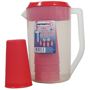 5 Piece Juice 64 Oz. Pitcher Set