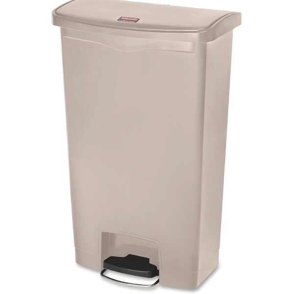 Slim Jim 18 Gallon Step-On Trash Can by Rubbermaid Commercial Products
