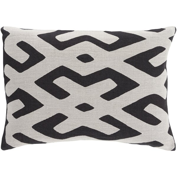 Alona Geometric Down Lumbar Pillow by Bloomsbury Market