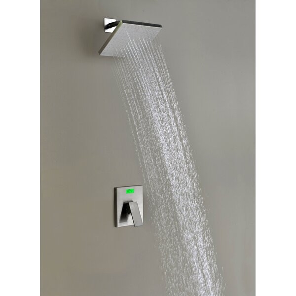 Digital Temperature Display Thermal Sequence ThermostaticLever Shower Faucet by Sumerain International Group
