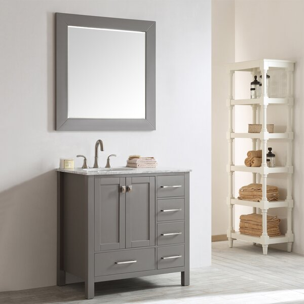 Newtown 36 Single Vanity Set with Mirror by Beachc