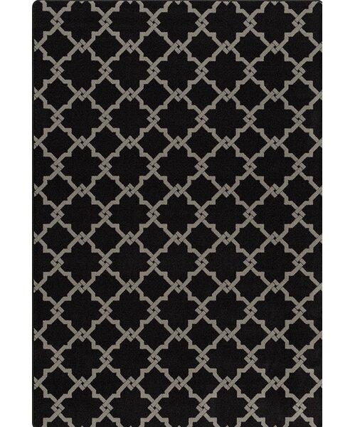 Tinsman Black/Gray Area Rug by Charlton Home