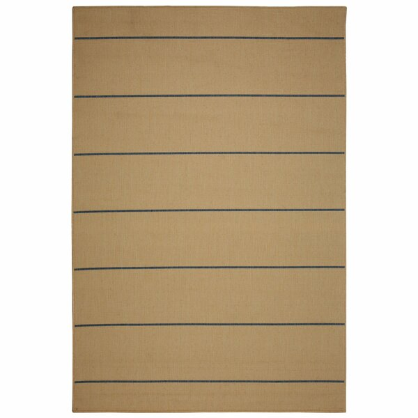 Egbert Natural Stripe Indoor/Outdoor Area Rug by Charlton Home