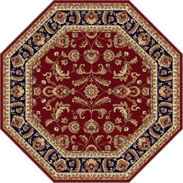Clarence Red/Navy Blue Area Rug by Astoria Grand