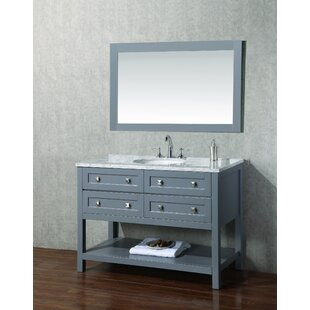 Shop for Whaley 48 Single Modern Bathroom Vanity Set with Mirror By Brayden Studio