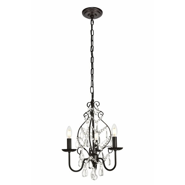 Archway 3-Light Candle Style Chandelier by House o