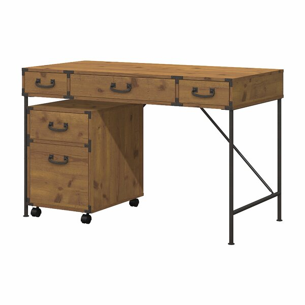 Ironworks 2 Piece Desk Office Suite by Kathy Ireland Office by Bush