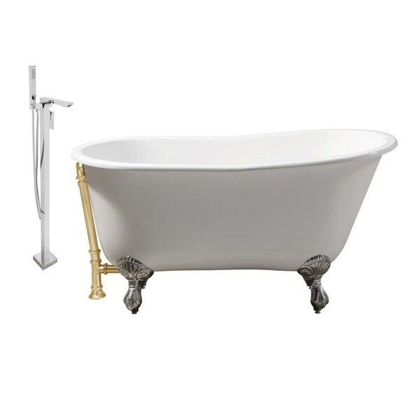 Cast Iron 53 x 28 Clawfoot Soaking Bathtub by Streamline Bath
