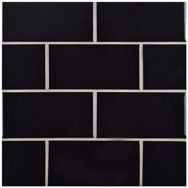 Prospect 3 x 6 Ceramic Subway Tile in Black by EliteTile